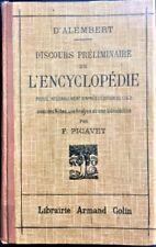 D'Alembert - Discours préliminaire de l'Encyclopédie - 1929