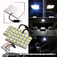 2X Bright White SMD 24 LED Dome/Map Light T10 and Festoon Adapter Universal 6