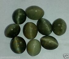 74.20CT Green Cats Eye 10 Pieces Top Quality Natural Wholesale Lot Gems W1330