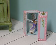 Miniature Dollhouse Furniture Doll Case Blue-1 in scale