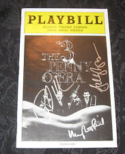 Playbill THE THREE 3 PENNY OPERA signed by Rick Holmes,Mary Beth Peil, one more