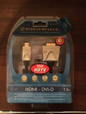 1.5m HDMI HD v1.4 To DVI-D 24+1 Pin Male GOLD Cable For DTV Plasma display LCD