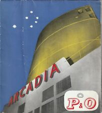 P&O Arcadia photo brochure (late 1950's)