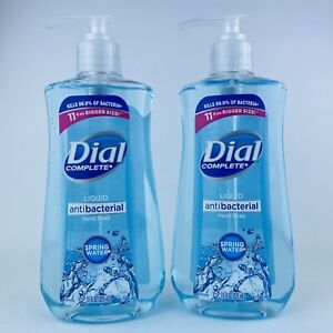 2-Pack Dial Complete Liquid Hand Soap Spring Water Kills Bacteria 11 Fl.oz Each