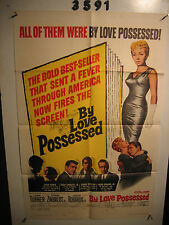 By Love Possessed Original 1sh Movie Poster '61 sexy full length Lana Turner,