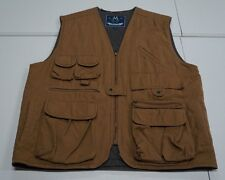 Members Only Mens M Brown Cotton Insulated Hunting Vest