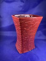 Vintage Large McCoy Pottery 1957 Vase with Striated Basketweave Design a220