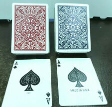 2 deck set antique Hornet Playing Cards from US Playing Card Co vintage red/blue