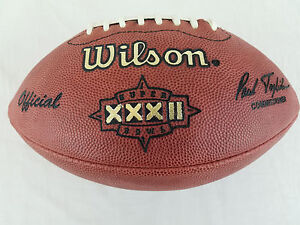 Super Bowl 32 XXXII Official Wilson NFL On Field Game Football Broncos v Packers