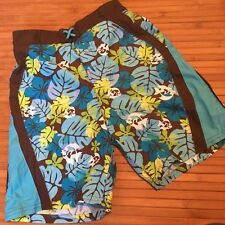Blue Tropical Shorts Swim Trunks 7 Boys swimsuit Beach and Holiday Gift