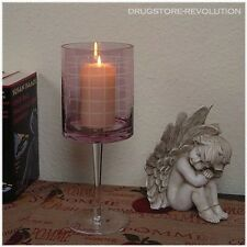 Windlicht Teelichthalter Kerzenständer flieder Romantik Impressionen H30 cm NEU