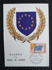FRANCE CONSEIL EUROPE MK 1965 EUROPARAT MAXIMUMKARTE CARTE MAXIMUM CARD MC c4355