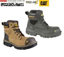 """Safety Work Boots CATERPILLAR Gravel 6"""" waterproof S3 Oily Leather Size 6- 13 UK"""