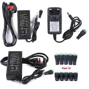 DC 12V 1/3/5/8A Power Supply AC Adaptor Transformer for 3528 5050 RGB LED Strip
