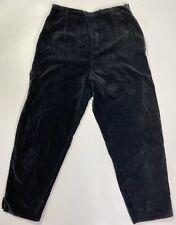 Vintage 1950s Black Velvet Back Zip Cigarette Pants Pin Up Authentic Retro