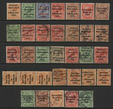 Ireland Collection 33 Early Ovprt Stamps Used / Unused Mounted