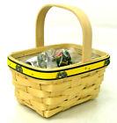 Longaberger First John Deere Tea Basket Fabric Liner & Protector New