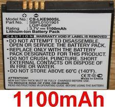 Type 1100mah battery lgip - 690f for lg c900 e900 e906, optimus 7, quantum