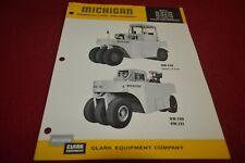 Michigan RW140 RW180 RW181 Rubber Tired Compactors Brochure FCCA
