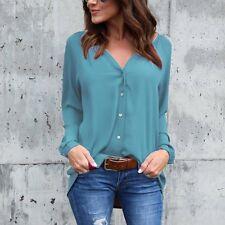 Fashion Women's Ladies Long Sleeve Loose Blouse Casual Shirt Summer Tops T-Shirt