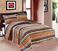 3 Piece Mesa SouthWestern Design Star Borrego Fleece Comforter style Set