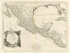 """""""Carte du Mexique et de la Nouvelle Espagne…"""" Mexico. SANTINI/D'ANVILLE 1784 map"""