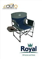 Director's Chair with Table Blue/Silver - Camping Caravan Campervan Tent fishing