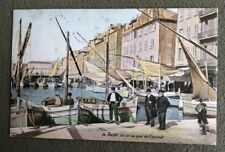 CPA. TOULON. 83 - Un coin du Quai de Cronstadt. 1908. Barques.