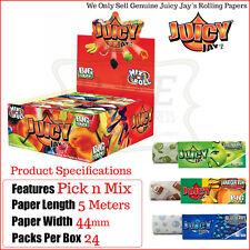 Juicy Jays Kingsize Flavoured ROLLS 8 Flavours - 3 of Each - 24 Rolls Per Box