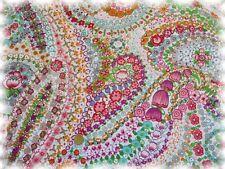 Liselotte Popeline weiß pink Baumwolle Webware Blumen 50 cm Blumenstoff Stoff
