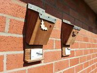 BAT BOX X2 , NEST -  ROOSTING QUALITY HANDMADE BATBOX WITH FELT ROOF  ^●^