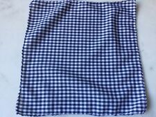 Blue & White Small Gingham Plaid Check POCKET SQUARE