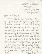 Letter Signed by Sqn.Ldr.B.H.Drobinski  65 Sqn Polish Battle of Britain Spitfire