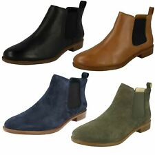 Ladies Clarks  Taylor Shine Chelsea Boots