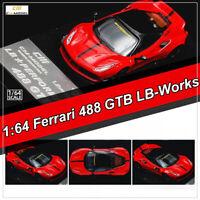 CM Model 1:64 Scale Ferrari 488 GTB LB-Works Liberty Walk Car Model Collection