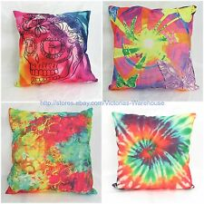 wholesale 4pcs tie dye skull butterfly cushion cover hippie bohemian furniture