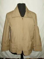 Coldwater Creek Womens Twill Crinkle Jacket  Size 1X 18 Tan New NWT PM92