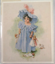 """Victorian Lithograph Print Picture """"Family Doctor""""Children Kids With Dog 9"""" X 7"""""""