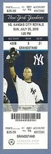 Robinson Cano 1000th hit July 25 2010 Full Season Ticket Yankees Jeter on ticket