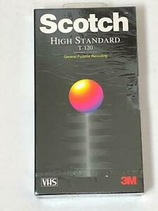 Scotch 3M High Standard 6 Hours Blank VHS Tape T-120 General Purpose Recording