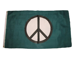 3x5 Green Peace Symbol Premium Quality Flag 3'x5' Banner Grommets fade resistant