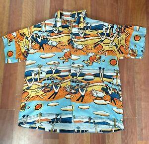 Mambo Loud Shirt - Long Weekend - Reg Mombassa - Size Medium