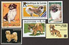 Tibetan Spaniel * Int'l Dog Postage Stamp Art Collection * Unique Gift *