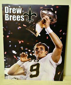 DREW BREES New Orleans Saints NFL Football Super Bowl Quarterback 16x20 Poster