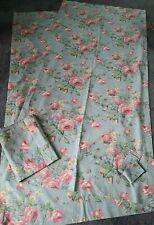 Ralph Lauren Garden Rambler Lined Curtains Drapes 2 Panels & Valance Tie Backs