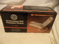 Vintage Southwestern Bell Freedom Phone Beige, Long Hand Cord, New in Box