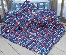 Rag Quilt throw Denver Broncos  quilt  handmade in USA # 137