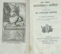 Précis de l'histoire GRECQUE 1827 COURTAUD DIVERNERESSE Latin et Français