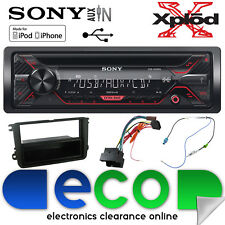 Skoda Super B 08-15 Sony CDX-G1200U CD MP3 Usb Aux Iphone Coche Radio Stereo Kit