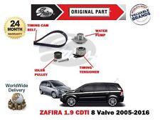 FOR VAUXHALL ZAFIRA 1.9 CDTI 8V 2005->TIMING CAM BELT KIT + WATER PUMP SET
